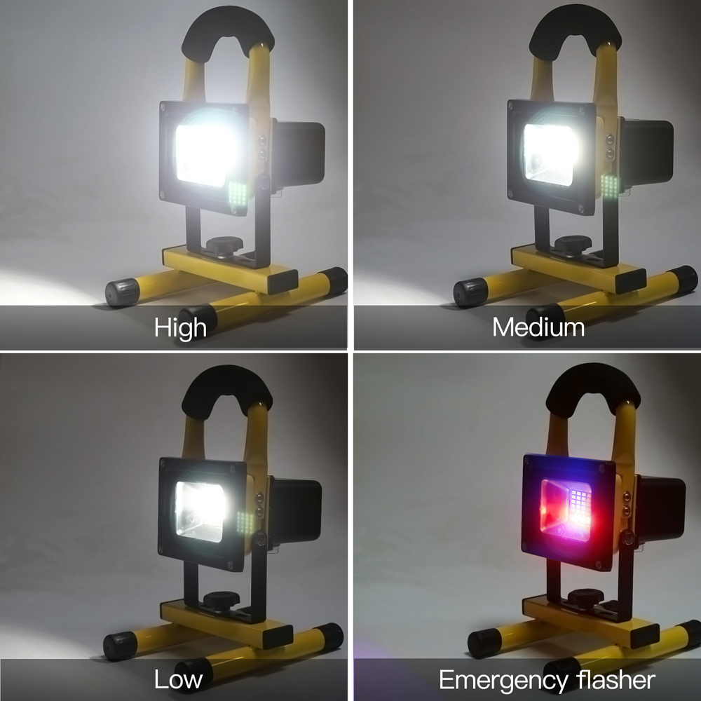 LED Flood Light with 2 Blue and 2 Red Flashing LEDS